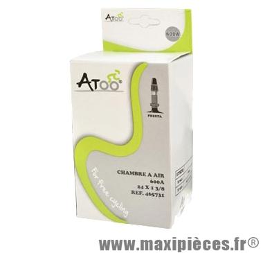 Chambre à air de tradi 600a (24x1-3/8) vp marque Atoo - Matériel pour Vélo