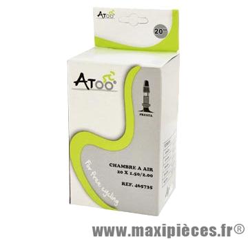 Chambre à air de VTT 20x1.75/2.00 vp + BMX marque Atoo - Matériel pour Vélo