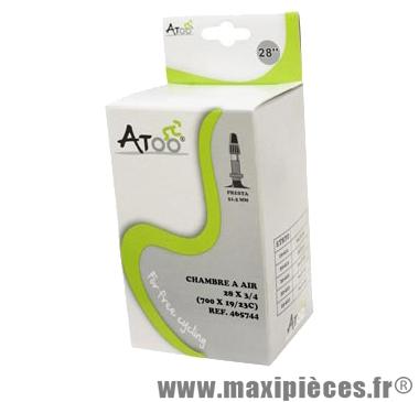 Chambre à air de route 700x20/23 vp valve 51mm marque Atoo - Matériel pour Vélo