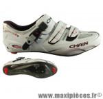 Chaussure route chain nova blanc t39 semelle carbone (paire) - Accessoire Vélo Pas Cher pour cycliste