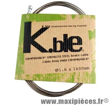 Cable frein route inox type Campa 1.60 (vendu par boite de 20) kble/tr marque KBLE - Pièce Vélo