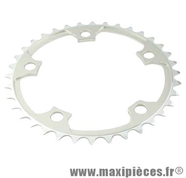 Plateau 36 dents route diamètre 110 intérieur argent nerius (spec.campa) marque Spécialités TA - Matériel pour Vélo