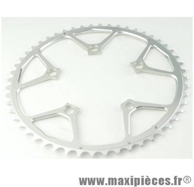 Plateau 52 dents route diamètre 110 extérieur argent nerius (spec.campa) marque Spécialités TA - Matériel pour Vélo