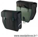 Sacoche vélo polyester pliante noire (paire) (19l) (37x13x33) - Accessoire Vélo Pas Cher