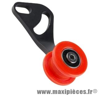 Guide tendeur de chaine vélo pignon fixe Atoo noir et rouge