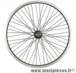 Roue vélo BMX 20 pouces avant axe 10mm as7x mx 48t jante/rayons noirs - Accessoire Vélo Pas Cher
