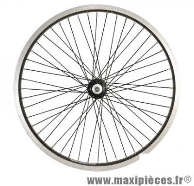 Roue vélo BMX 20 pouces avant axe 14mm mx 48t jante/rayons noirs - Accessoire Vélo Pas Cher