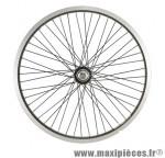 Roue vélo BMX 20 pouces arrière axe 10mm as7x mx 48t jante/rayons noirs - Accessoire Vélo Pas Cher