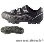 Chaussure VTT ranger argent/noir t38 3 velcros (paire) marque GES