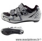 Chaussure route argent/noir t40 rd-103 3 velcros (paire) marque GES