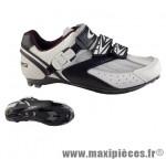 Chaussure route blanc/noir t40 corsa 2 velcros + clic (paire) marque GES
