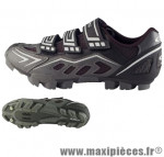 Chaussure VTT ranger argent/noir t39 3 velcros (paire) marque GES