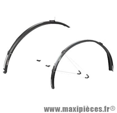 Garde boue VTC 26/28 pouces paragon c40 noir 40mm a tringles (paire) marque Zéfal - Matériel pour Cycle