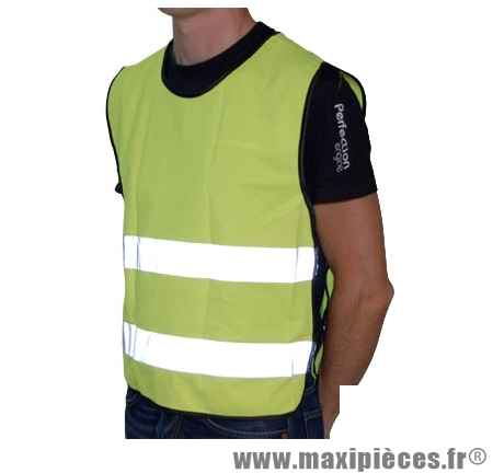 Gilet/veste sécurité jaune fluo vélo-cyclo bande réfléchissante adulte - Accessoire Vélo Pas Cher
