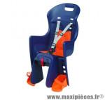 Porte bébé arrière sur porte bagage boodie bleu coussin orange <22kgs marque Polisport - Pièce Vélo