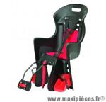 Porte bébé arrière sur cadre boodie noir coussin rouge <22kgs marque Polisport - Pièce Vélo