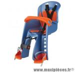 Porte bébé avant bilby bleu coussin orange (fix. centrale) <15kgs marque Polisport - Pièce Vélo