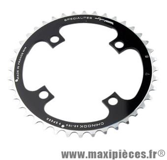 Plateau 40 dents VTT triple diamètre 104 interm noir 4 branches chinook (deore/lx/xt) marque Spécialités TA - Matériel pour Vélo