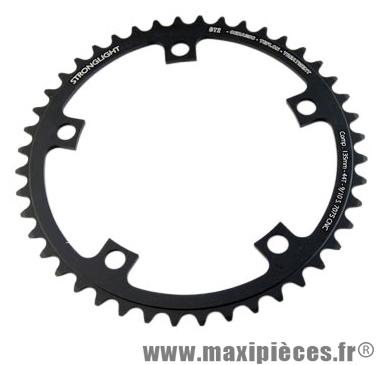 Plateau 44 dents route diamètre 135 intérieur noir ct2 téflon ceramic ultra torque marque Stronglight - Pièce Vélo