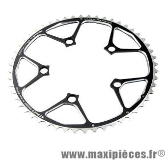 Plateau 52 dents route diamètre 110 extérieur noir nerius (spec.campa) marque Spécialités TA - Matériel pour Vélo