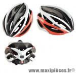 Casque route ltd carbone rouge/blanc/noir marque Optimiz - Matériel pour Vélo