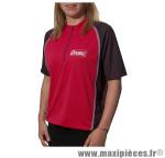 Maillot bicolore rouge/noir zip noir s marque Optimiz - Matériel pour Vélo