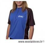 Maillot bicolore bleu/noir zip noir s marque Optimiz - Matériel pour Vélo