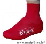Couvre chaussure lycra ceylon 190 grammes rouge (paire) marque Optimiz - Matériel pour Vélo pour cycliste
