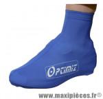 Couvre chaussure lycra ceylon 190 grammes bleu (paire) marque Optimiz - Matériel pour Vélo pour cycliste