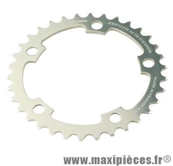 Plateau 34 dents route diamètre 110 intérieur argent zephyr (comp. Shimano) marque Spécialités TA - Matériel pour Vélo