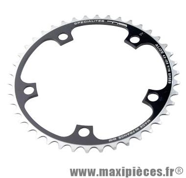Plateau 42 dents route diamètre 130 intérieur noir alize (comp. Shimano) marque Spécialités TA - Matériel pour Vélo