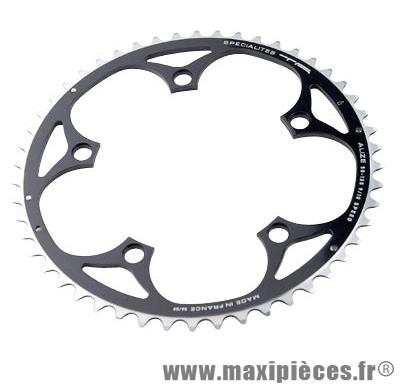 Plateau 50 dents route diamètre 130 extérieur noir alize (comp. Shimano) marque Spécialités TA - Matériel pour Vélo