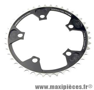 Plateau 42 dents route diamètre 110 intérieur noir nerius (spec.campa) marque Spécialités TA - Matériel pour Vélo