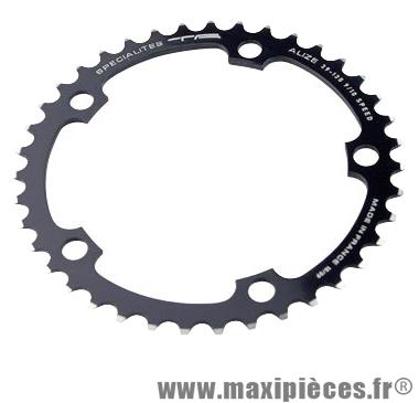 Plateau 39 dents route diamètre 130 intérieur noir alize (comp. Shimano) marque Spécialités TA - Matériel pour Vélo