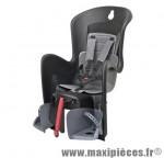 Porte bébé arrière sur porte bagage bilby cfs noir coussin gris <22kgs marque Polisport - Pièce Vélo