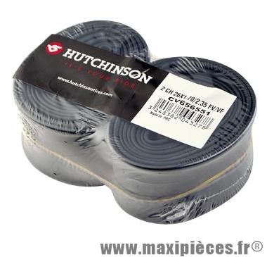 Chambre à air de VTT 26x1.70/2.35 vp (lot de 2) prix net marque Hutchinson