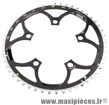 Plateau 51 dents route diamètre 110 extérieur noir (comp. Shimano + campa ultra torque) 10/9v. marque Miche - Pièce Vélo