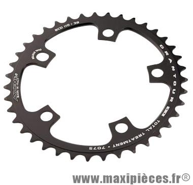 Plateau 39 dents route diamètre 110 intérieur noir (comp. Shimano + campa ultra torque) 10/9v. marque Miche - Pièce Vélo