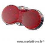 Eclairage vélo pile arrière hgoggle xi 3 diodes on-off manuel porte bagage marque Herrmans - Pièce Vélo *Prix spécial !