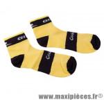 Socquette coolmax jaune/noire 44/47 (paire) marque GIST - Casque Vélo pour cycliste