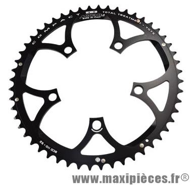 Plateau 52 dents route diamètre 110 extérieur noir (comp. Shimano + campa ultra torque) 10/9v marque Miche - Pièce Vélo