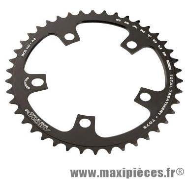 Plateau 42 dents route diamètre 110 intérieur noir (comp. Shimano + campa ultra torque) 10/9v. marque Miche - Pièce Vélo