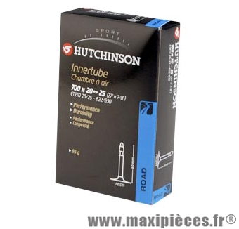 Chambre à air de route 700x20/25 vp valve 60mm marque Hutchinson