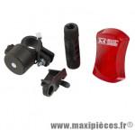 Eclairage vélo magnétique arrière m-wave 3 leds - Accessoire Vélo Pas Cher