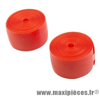 Bande anti-crevaison VTT 26/24 pouces largeur 39mm orange (blister de 2) - Accessoire Vélo Pas Cher
