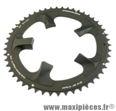 Plateau 50 dents route diamètre 110 extérieur noir ct2 ultegra 6750 téflon ceramic 10v. marque Stronglight - Pièce Vélo
