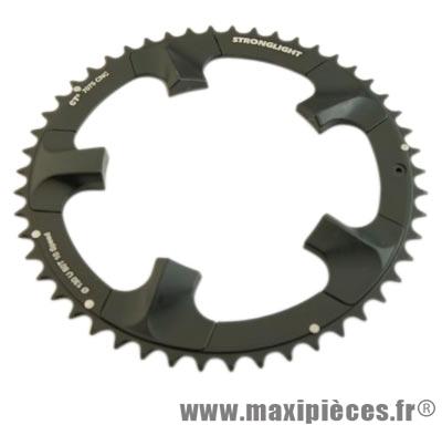 Plateau 51 dents route diamètre 110 extérieur noir ct2 ultegra 6750 téflon ceramic 10v. marque Stronglight - Pièce Vélo