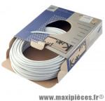Gaine frein route/VTT blanc 5mm auto-lubrifiee 25m (gaine tubée) marque KBLE - Pièce Vélo