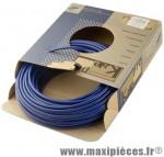 Gaine frein route/VTT bleu 5mm auto-lubrifiee 25m (gaine tubée) marque KBLE - Pièce Vélo