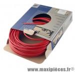 Gaine frein route/VTT rouge 5mm auto-lubrifiee 25m (gaine tubée) marque KBLE - Pièce Vélo